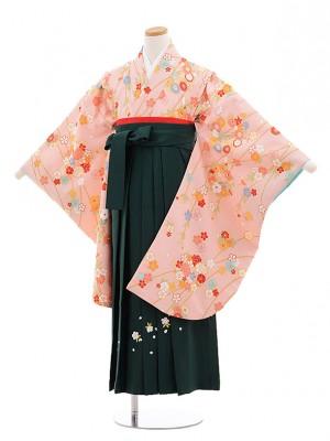 小学生卒業式袴(女の子)E026/ピンク/小花