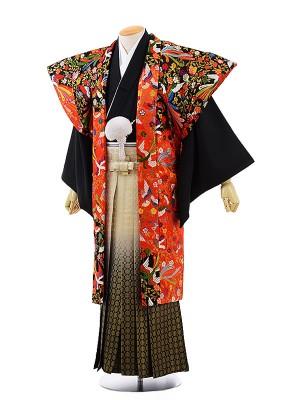 男性用袴レンタル2010 かぶき紋付×金松葉ぼかし