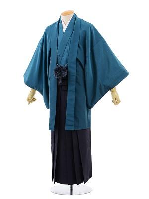 男性用袴レンタル2042KANSAIエメラルドグリーン×紺