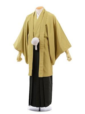 男性用袴レンタル2044KANSAIからし抹茶×グリーン