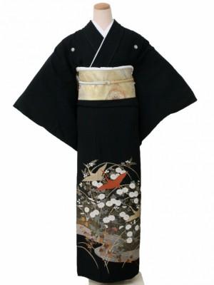 黒留袖0149小菊にツル