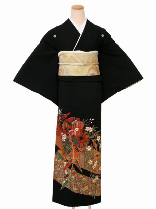 黒留袖0089しだれ桜