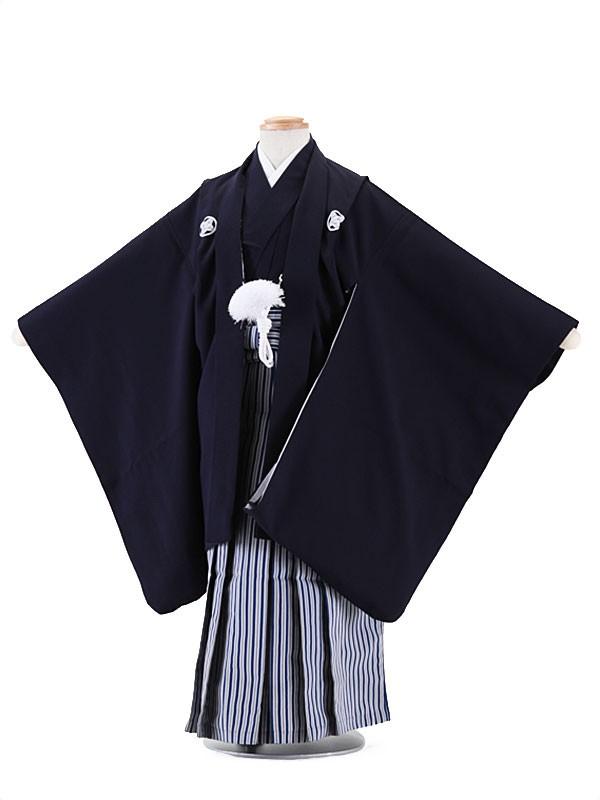 七五三(5歳男袴)M533 しぶ紺無地/紺ヨロ