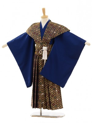 七五三(5歳男袴)M514 紺×金菱