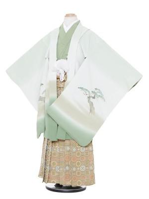 七五三(7歳男袴)M716 若葉色若武者/蜀江