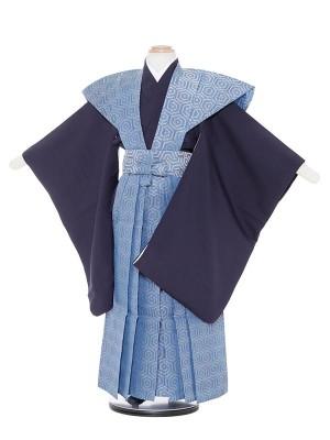 七五三(5歳男袴)M532 青地亀甲紋裃