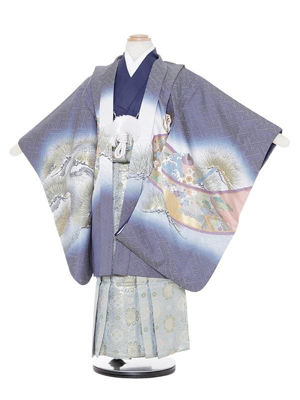七五三(5歳男袴)M542 青兜絵巻/蜀江紋ブ