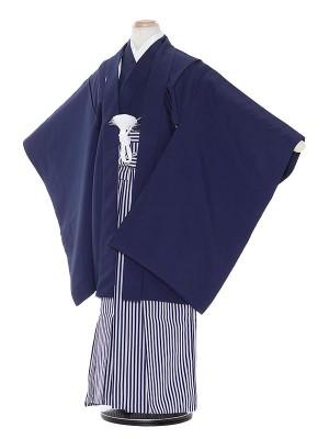 七五三(7歳男袴)M706 濃紺無地/しぶ紺縦