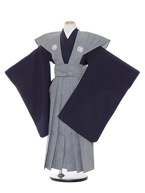 七五三(7歳男袴)M705 鮫小紋裃