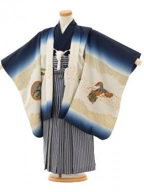 753レンタル(5歳男)025紺ぼかし富士と宝船