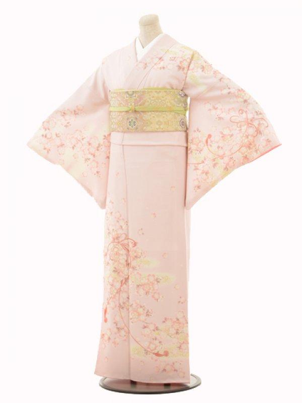 付下訪問着f113 JAPAN STYLEピンク桜