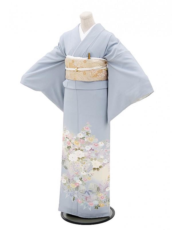 色留袖レンタル566白菫色