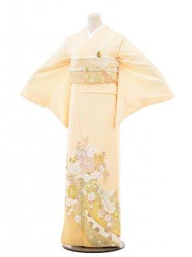 色留袖レンタル678桂由美 薄オレンジリボンバラ