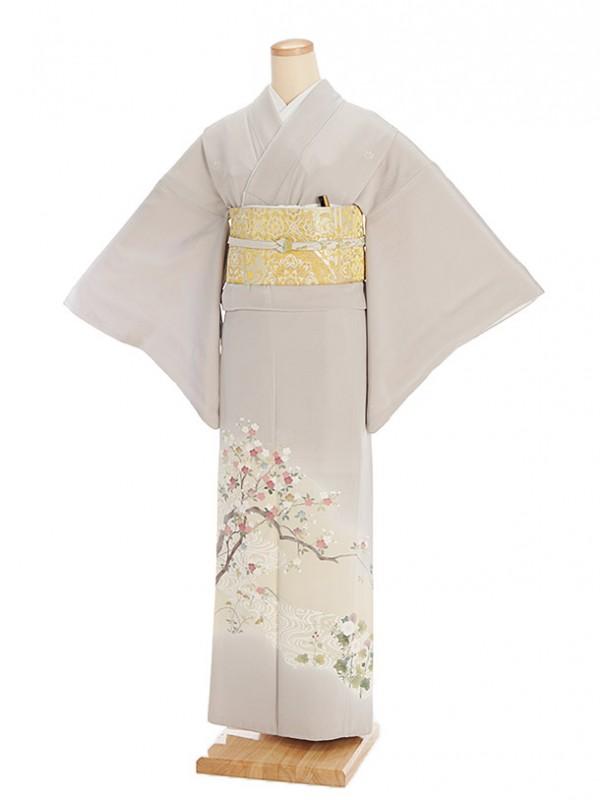 色留袖レンタル548灰桜