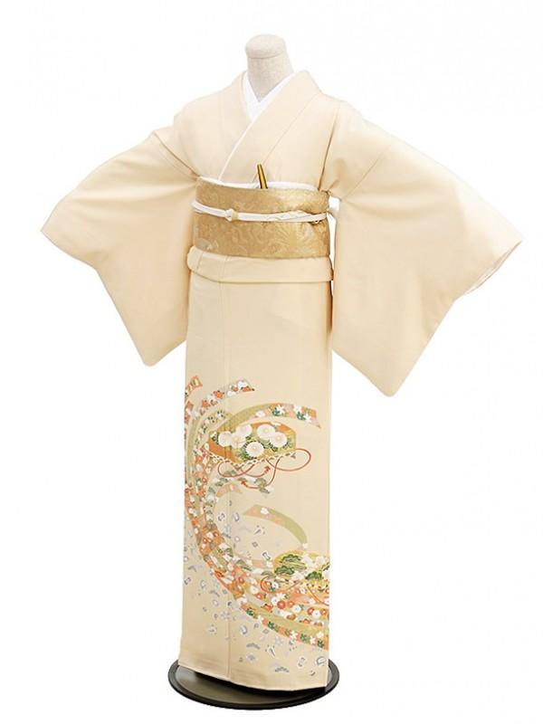 色留袖レンタル577白茶