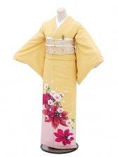 色留袖レンタル560柑子色洋花