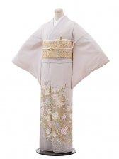 色留袖レンタル608桂由美白バラ