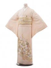 色留袖レンタル653桂由美淡ピンク地波とバラ