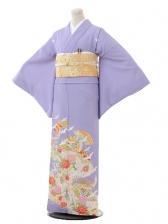 色留袖レンタル699薄紫色扇に飛鶴