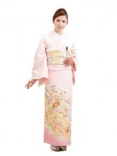 色留袖レンタルQ600ピンク祝い柄
