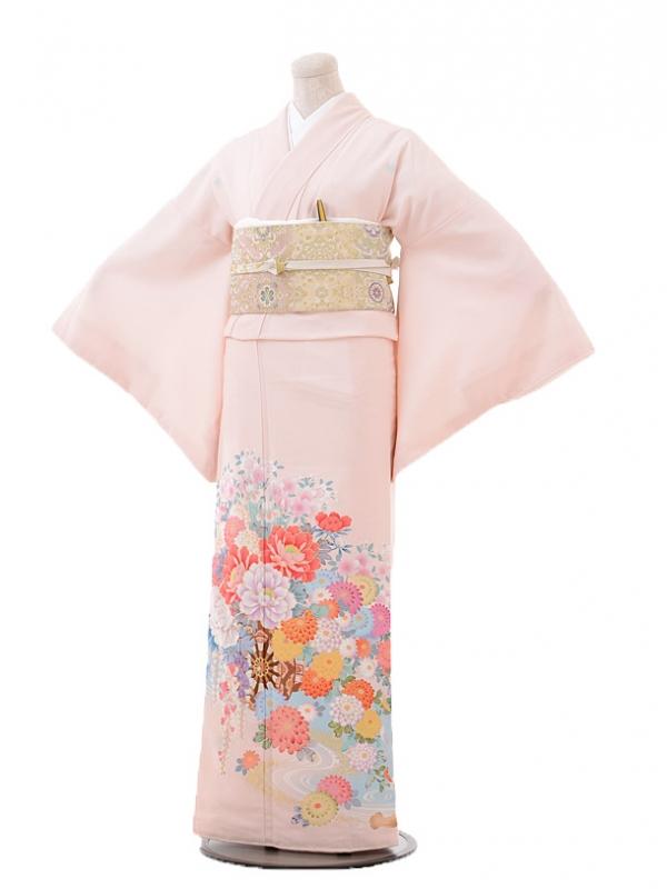 色留袖レンタル705JAPANSTYLEピンク花づくし
