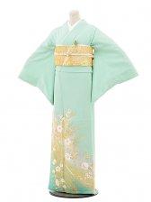 色留袖レンタル677桂由美 グリーンレース花