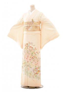 色留袖レンタル687友禅手刺繍クリーム