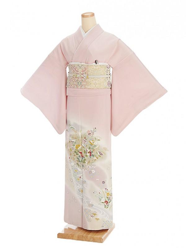 色留袖レンタル558薄桜