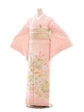 色留袖688友禅手刺繍ピンク