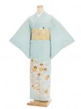 色留袖レンタル604水色金花刺繍