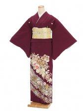 色留袖レンタル621紫地に洋花