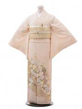 色留袖レンタル655桂由美淡ピンク地波とバラ