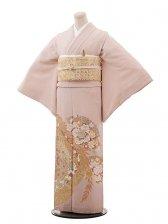 色留袖レンタル651桂由美ピンク地バラ