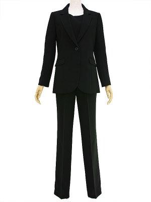 レディースブラックフォーマル 7号(S)~17号(4L) パンツスーツ