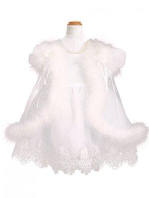 子供ドレス 1~2才 ホワイト 半袖 el-2026