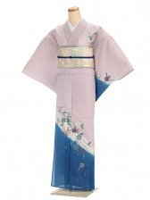 夏訪問着htr012枝垂れ桜/薄紫×青
