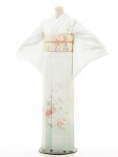 夏訪問着htr046加賀四季花/淡い緑