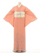 夏訪問着htr026枝垂れ桜/サーモンピンク