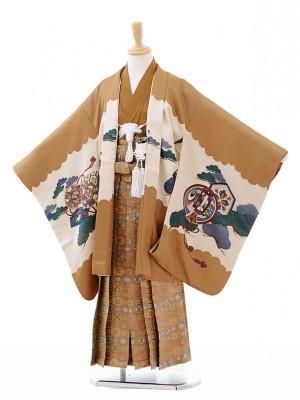 七五三(5歳男袴)G041茶色宝舟に鷹
