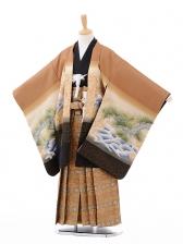 七五三(7歳男袴)G038茶色松富士に鷹