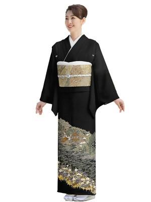 レンタル 黒留袖 単衣 フルセット 結婚式等 小さいサイズ