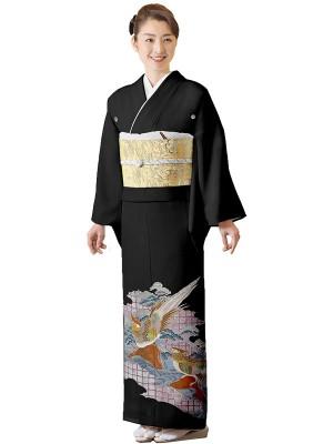 レンタル 絽 黒留袖 フルセット 結婚式等 やや小さいサイズ