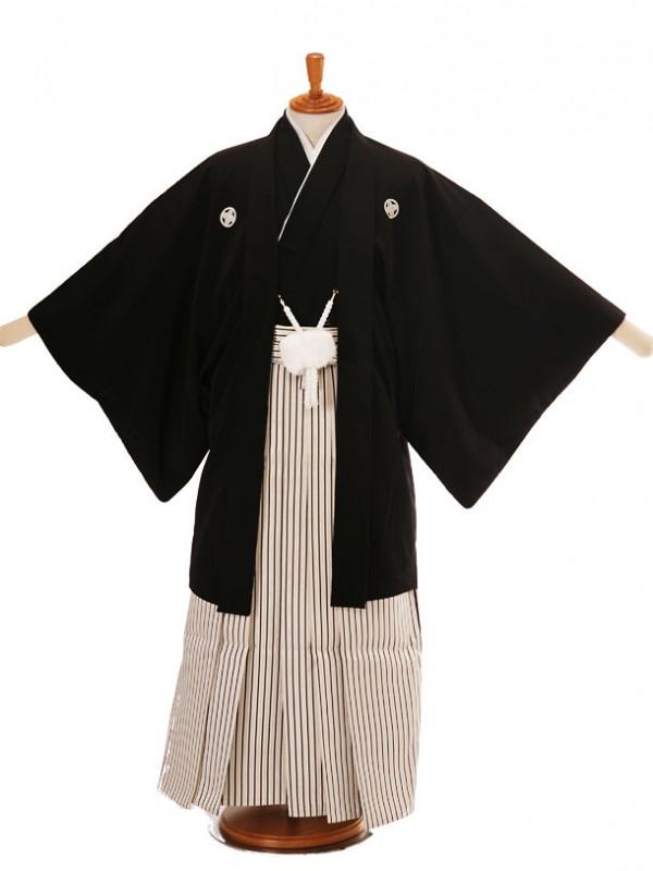 男性用袴黒H6/白仙台平170-175