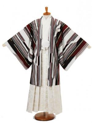 男性用袴JSM-7白赤ストライプLジャパンスタイル