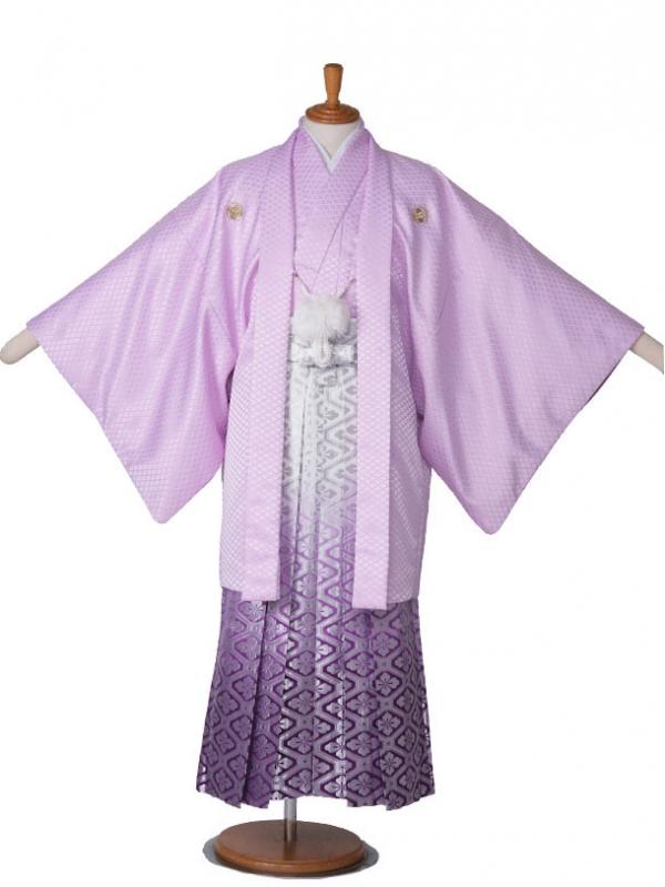 男性用袴ラベンダー5/銀亀甲柄紫336-S