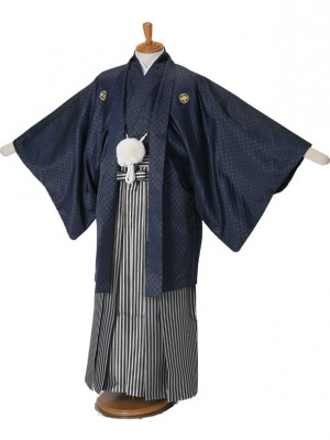 男性用袴紺金刺子/G6