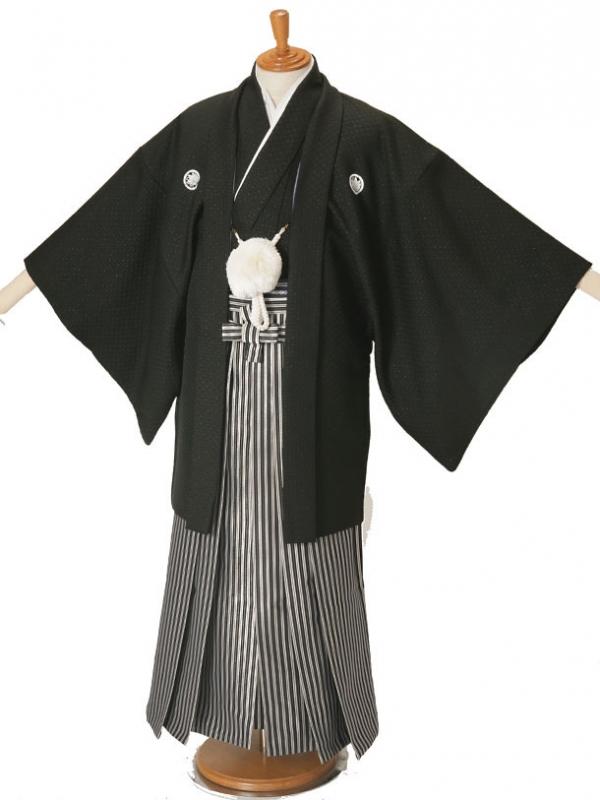 男性用袴黒刺子5/G5