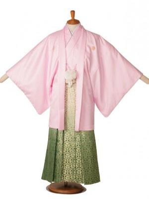 男性用袴ピンク菱29-S2/金亀甲花柄緑211-S