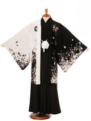 男性用袴JSM-1白黒鯉Lジャパンスタイル