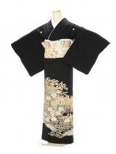黒留袖1106金箔菊花